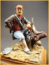 "figurine d'art en plomb "" Tigers Rifles "" guerre de Sécession caporal chef"