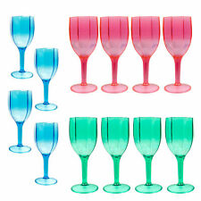 24 x Plastic Picnic Wine Champagne Gin Glasses Goblets Reusable Unbreakable