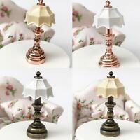 1:12 Dollhouse Miniature Mini Metal Table Lamp Bedside Lights Toys Top