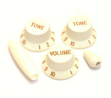 Parchment Knob/Trem/Switch Tip Set for Fender Stratocaster/Strat® PK-0178-050