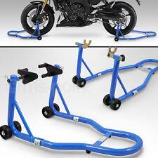Bituxx Motorradständer Montage SET hinten & vorn Motorrad Transportständer Blau