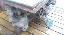 ancienne TABLE NÉOGOTHIQUE ferronnerie,château,vintage,atelier,artiste,fou,roi