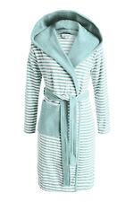 ESPRIT Bademantel Striped mint mit Kapuze Morgenmantel Streifen Sauna Frottee