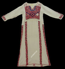 Antique Orient Beduin palestino robe palestinienne EMBROIDERED Ethnic Dress 6