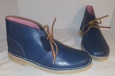 NEW CLARKS ORIGINALS x HERSCHEL SUPPLY BLUE LEATHER DESERT BOOTS MENS US 10 UK 9