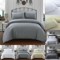 Luxury Bedding Set Duvet Cover Set Poly Cotton Single Double King Super Size New