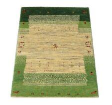 Persischer Gabbeh 119 x 76 cm, Moderner handgeknüpfter Orientteppich, Beige Neu