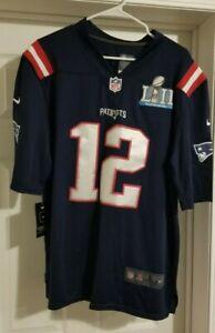 Tom Brady New England Patriots NFL Jersey Super Bowl LII Stitched Men's Large