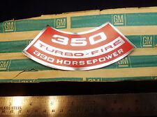 NOS 1971 Corvette Camaro LT1 350 Turbo-Fire 330hp Air Cleaner Decal z28 sticker
