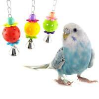 Bird Budgie Parakeet Cockatiel Cage Interactive Mirror Activity Bell T Play L7Z0