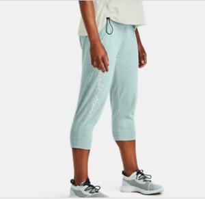 NWT Women's Medium Under Armour Legacy  Cotton Capri Cropped Joggers Pockets