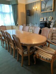 Italian dining table and 12 Chairs