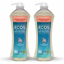Earth Friendly Products Ecos 4X Ultra Concentrated Liquid Laundry Detergent, 200