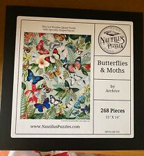 Nautilis Wooden Puzzle 268 pieces Butterflies and Moths