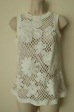 Women`s Next Vest Crochet White Size XS,S