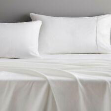 Sheridan QUEEN Bed White Flannelette Sheet Set. Cotton Flannelette Sets