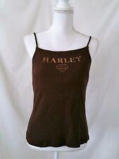 Harley Davidson Women's Shirt top L Sun HD Denver spaghetti strap cami shell T