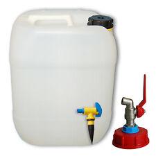 1 Stück 60  Liter Kanister natur Deckel Kanisterzubehör Zapfhahn AFT-Hahn DIN 61
