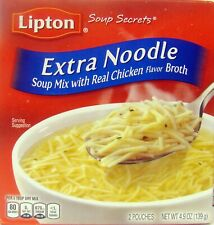 Extra Noodle Pasta Lipton Soup Secrets Real Chicken Broth 5 Boxes 10 Servings