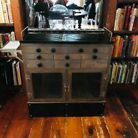 Vintage Metal Medicine Cabinet Dentistry Industrial Farmhouse Drawers Doors