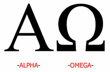 Lámina-Alpha Y Omega (foto Cartel palabra Arte Romano alfabeto griego)