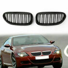 Shiny Black Double Line Front Grille For BMW E63 LCI M6 Style 630 635 645 650 CA