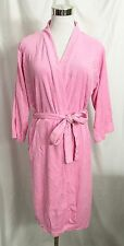 GS French Terry Robe 3/4 Kimono Sleeves Tie Waist Pink Lightweight size Small