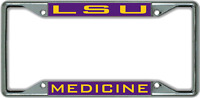 Louisiana State University MEDICINE License Plate Frame