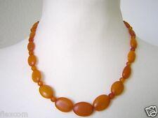 Antiguedad naturaleza Bernstein cadena egg yolk Butterscotch aceitunas forma 16 g Amber