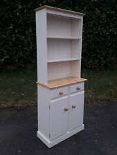 SOLID PINE BOOKCASE DRESSER IN FARROW AND BALL.