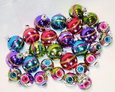 28 Radko Shiny Brite Glass Christmas Ornaments Indent Glitter Stripe Stencil