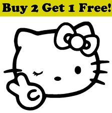 Hello Kitty Peace Sign Decal Sticker Car Bumper Window Wall Cute Cat Adorable