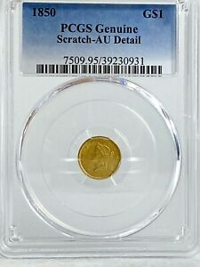 1850 $1 Gold Indian Princess Liberty AU PCGS