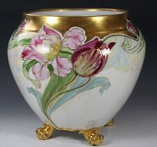 LIMOGES FRANCE Jardiniere with White Gold