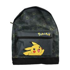 Pokemon Pikachu Catch 'Em All Black Large Roxy Childrens Backpack School Bag