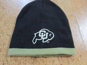 Colorado Buffaloes Hat Boys' Knit NCAA CU Color Black with Trim
