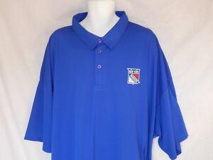 York Rangers Shirt NHL Hockey Blue Logo Patch Polo Jersey Men's Size 6XL New