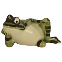Brush McCoy 1967 Colorful Whimsical Reclining Frog Ornament Planter