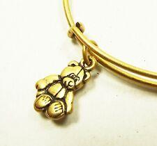 ALEX and ANI Rafaelian Gold Little Bear Wrap Bracelet with Charms