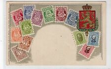 NORWAY: Embossed stamp postcard by Ottmer Zieher (C19353)