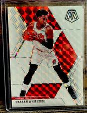 2019-20 Mosaic Basketball  Hassan Whiteside Blazers #55 White Mosaic /25