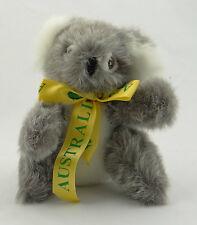 "VINTAGE PLUSH ~ KOALA BEAR WITH AUSTRALIA BOW/RIBBON ~ Biposo Pty Ltd Sidney~ 8"""