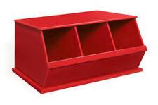 """Badger Basket Three Bin Storage Cubby - Red 9775 Storage Bin 37"""" x 19.3"""" x 17"""""""