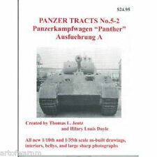 "Panzer Tracts  5-2  ""Panther, Ausf A "", German AFV book   by Jentz & Doyle sb"