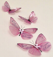 Personalised Gifts Butterflies 3D Nursery Baby Girls Bedroom Any Name Hand Made