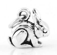 STERLING SILVER SMALL BUNNY RABBIT CHARM  W/SPLIT RING