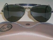 1970's B&L RAY BAN L9500 BLACK CHROME G15 UV OUTDOORSMAN AVIATOR SUNGLASSES