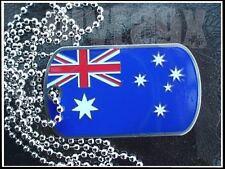 Australian Flag Aussie Australia Charm Dogtag Necklace Souvenir Sydney Melbourne