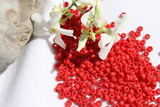 8/0 Toho Seed Beads 109-Opaque Frosted Pepper Red 28g  # 45F