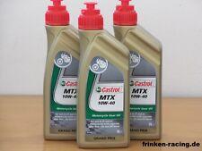 6,98 €/L CASTROL MTX 10w-40 3 x 1 L. OLIO